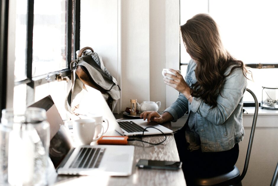 Image of a woman doing office work